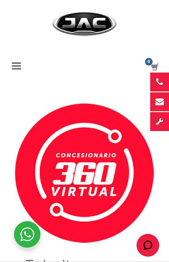 Concesionario virtual JAC