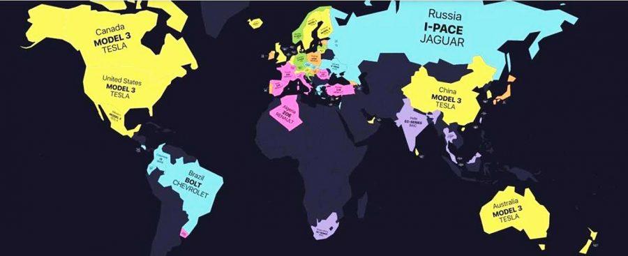 Mapa eléctricos en el mundo