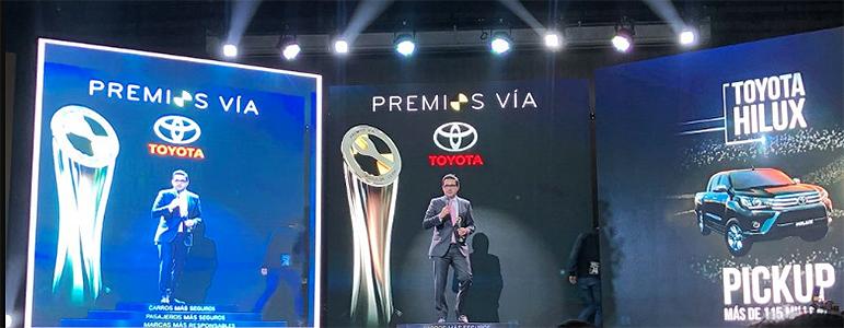 Toyota se lleva cuatro galardones en los Premios Vía 2019 1