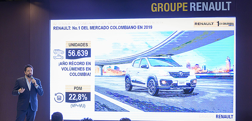 RENAULT se consolida como la marca líder del mercado Colombiano en 2019 1