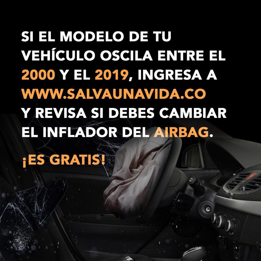 airbags defectuosos