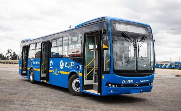 Otros 406 buses BYD-e para Bogotá 1