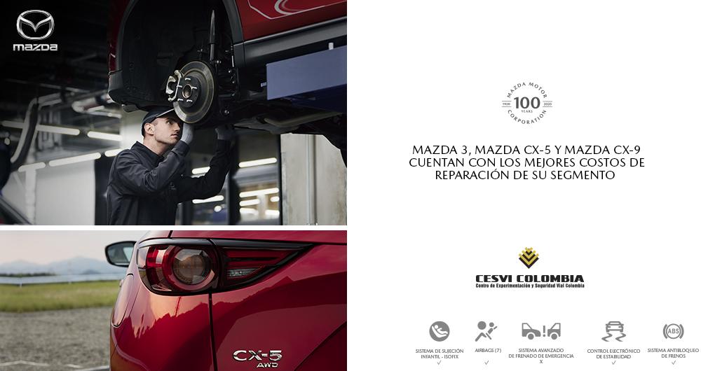 Cesvi Colombia destaca costos de reparación de Mazda 2