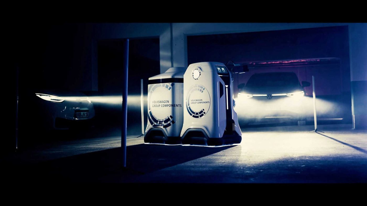 El robot VW de carga móvil 2