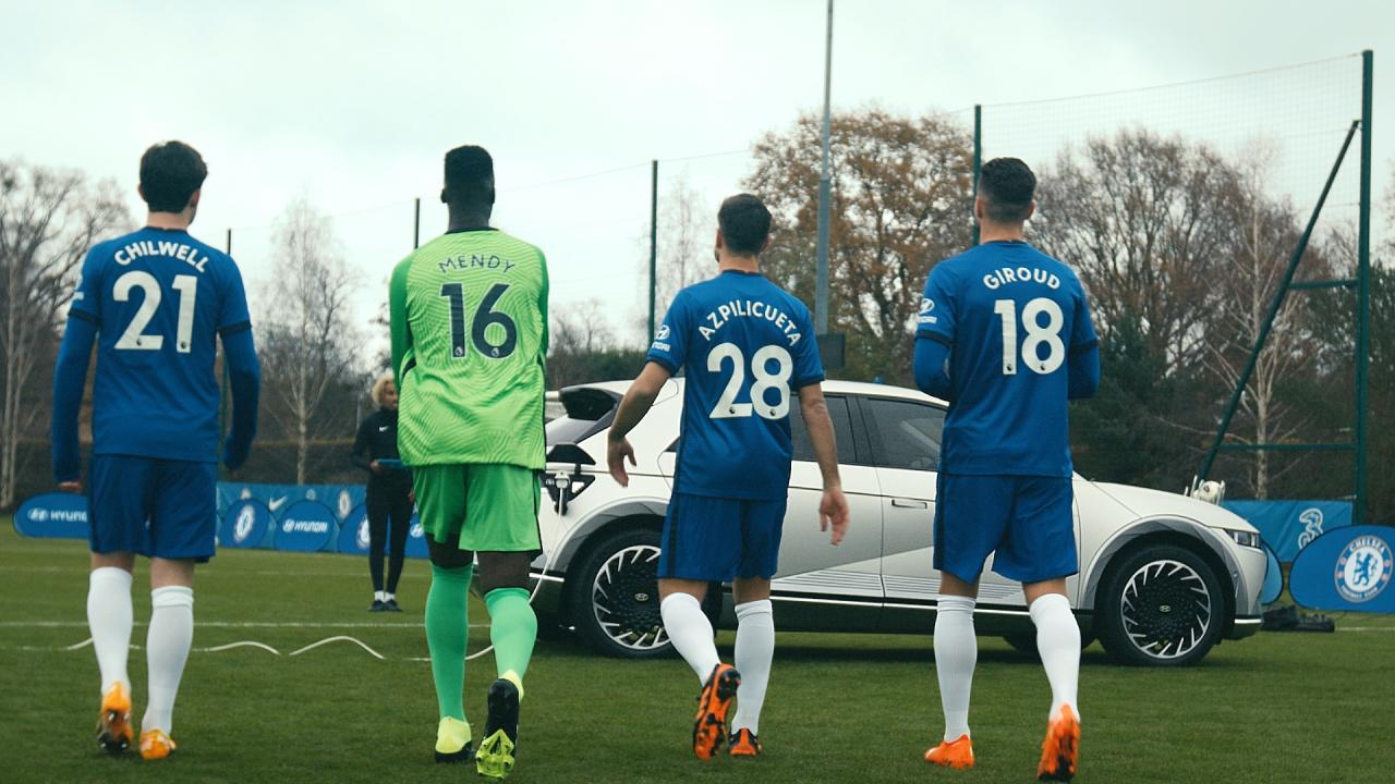 Chelsea FC entrena con el IONIQ5 1