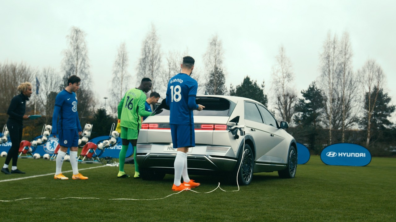 Chelsea FC entrena con el IONIQ5 3