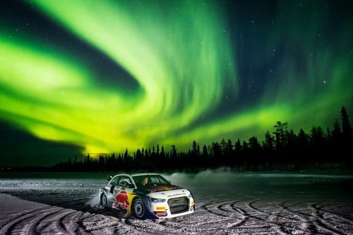 Rallycross bajo la aurora boreal 1