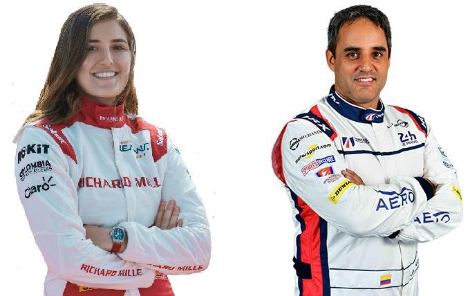 Juan Pablo Montoya y Tatiana Calderón corren las 6 Horas de Spa