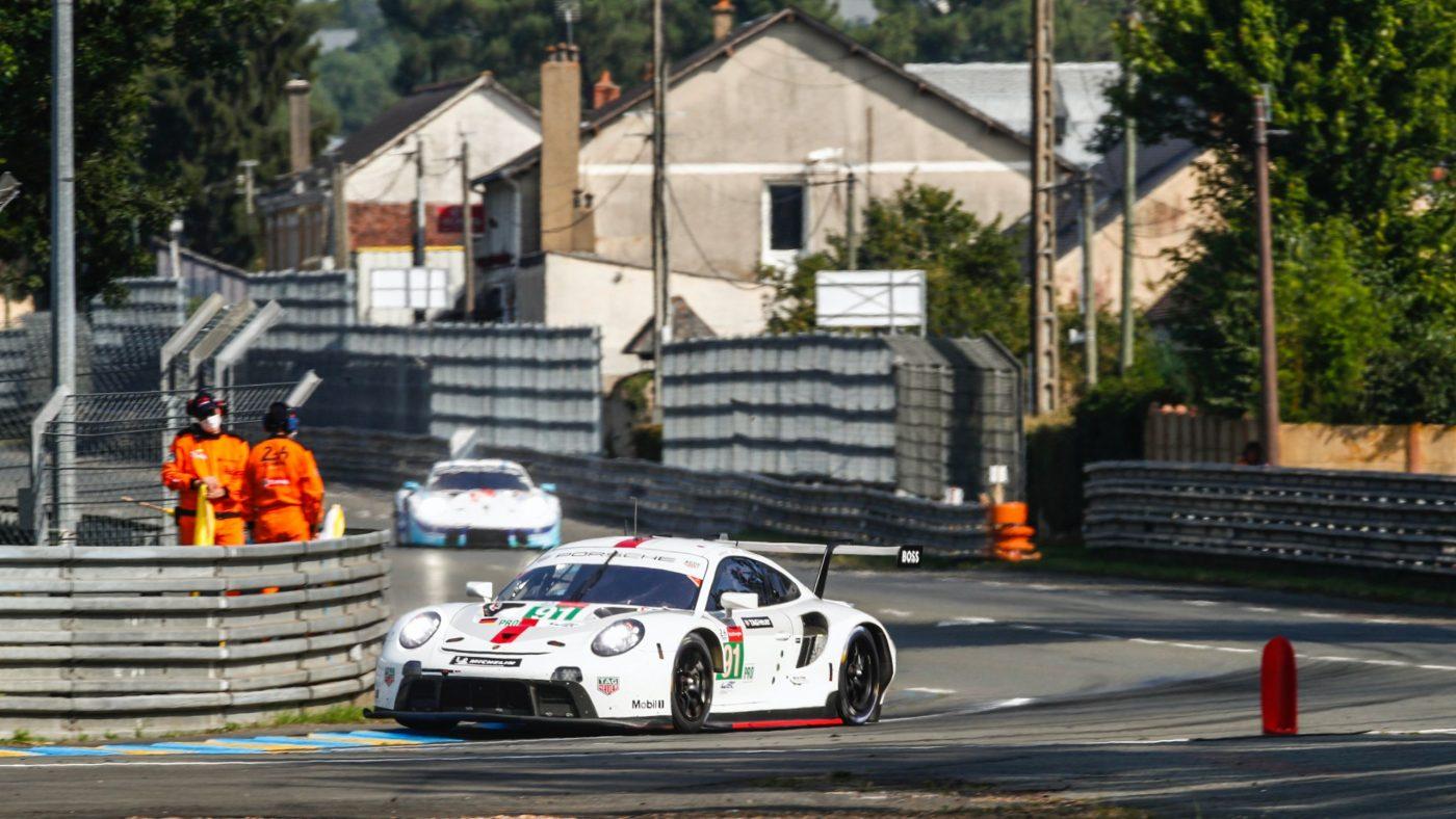 El estrés de un Porsche en las 24 Horas de Le Mans