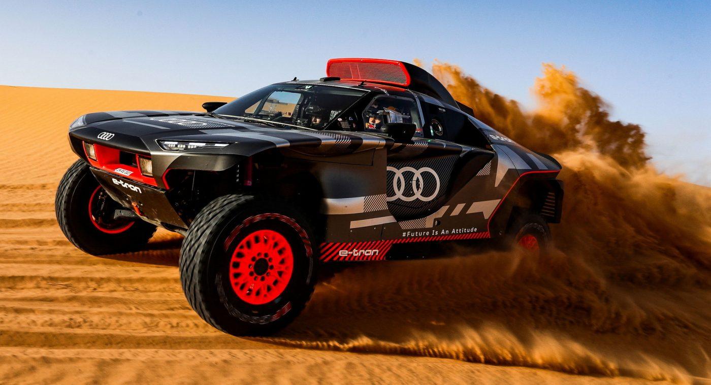Audi prueba su vehículo Dakar en Marruecos